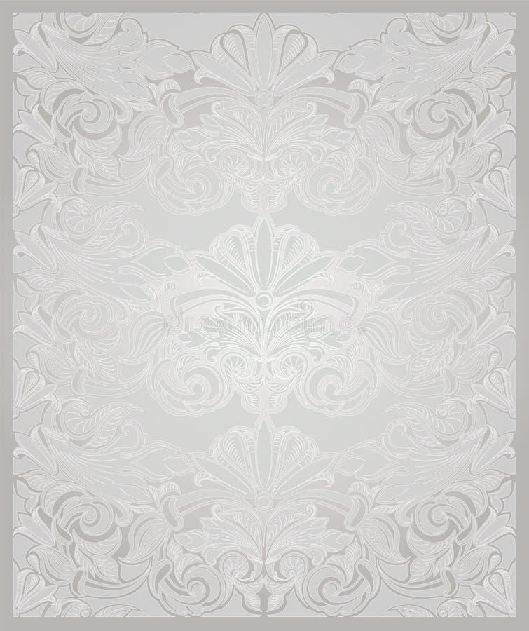 在珍珠白色的葡萄酒垂直的背景与金子 皇族释放例证