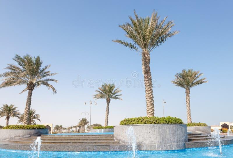 在珍珠的喷泉,卡塔尔 免版税库存照片