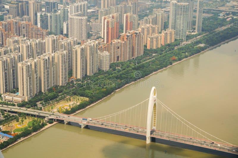 在珠江的桥梁 免版税库存照片