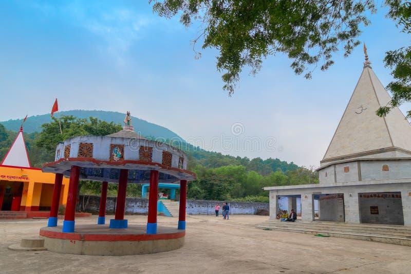 在班库拉,西孟加拉邦,印度的Biharinath寺庙 库存照片