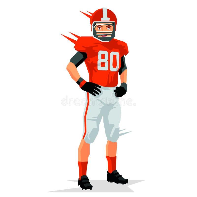 在球员橄榄球射击工作室白色 体育概念 皇族释放例证