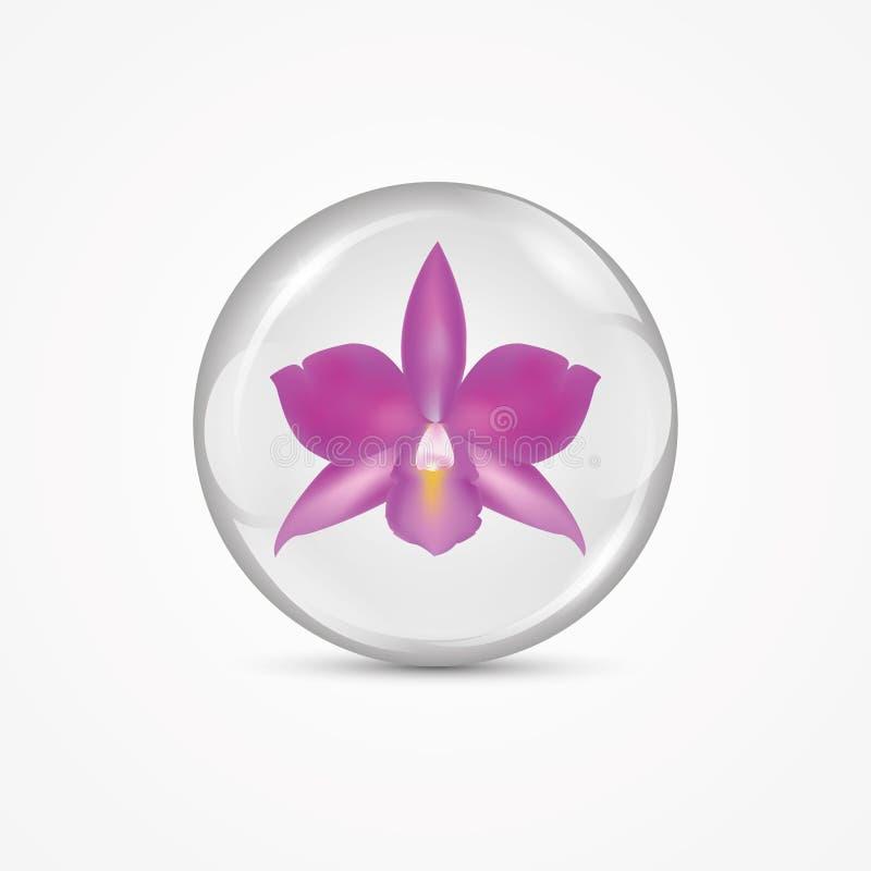 在球的紫色兰花 皇族释放例证