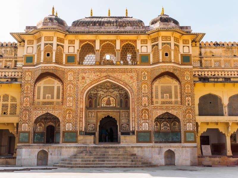 在琥珀色的宫殿的Ganesh波尔布特 免版税库存照片
