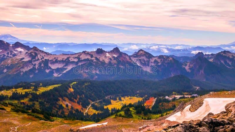 在瑞尼尔山国家公园,华盛顿的夏天 免版税库存照片