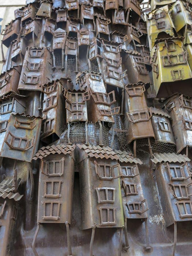 在瓦尔帕莱索,智利的街道艺术 库存照片