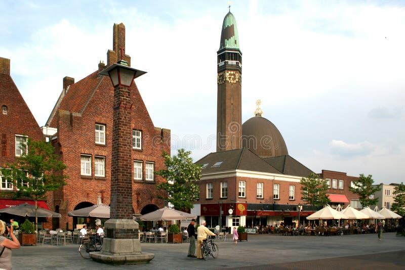 在瓦尔韦克的中心的街道视图 免版税库存照片