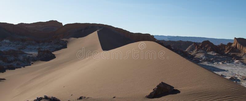 在瓦尔de la月/月球的沙丘 免版税库存照片