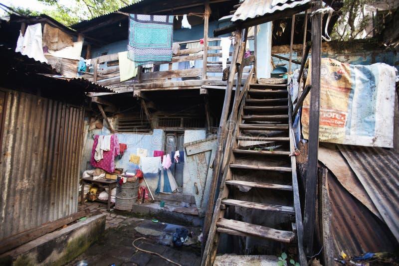 在瓦达队的老修造的外部在浦那,印度 库存照片