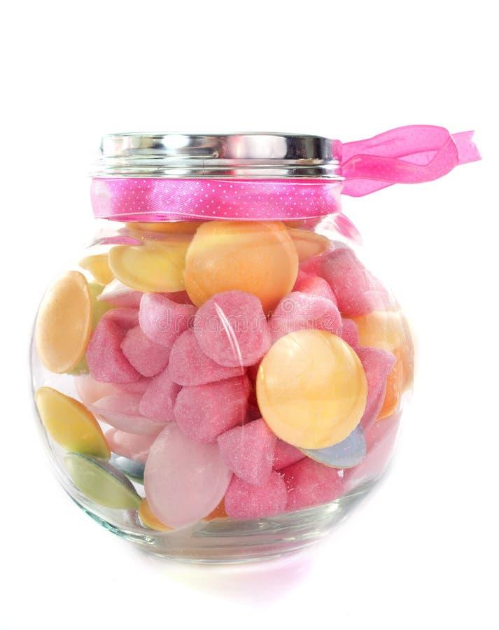 在瓶的糖果 免版税图库摄影