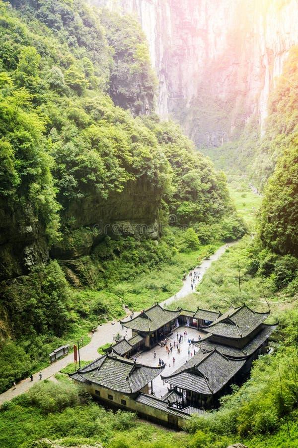 在瓷世界遗产风景的谷 免版税库存照片