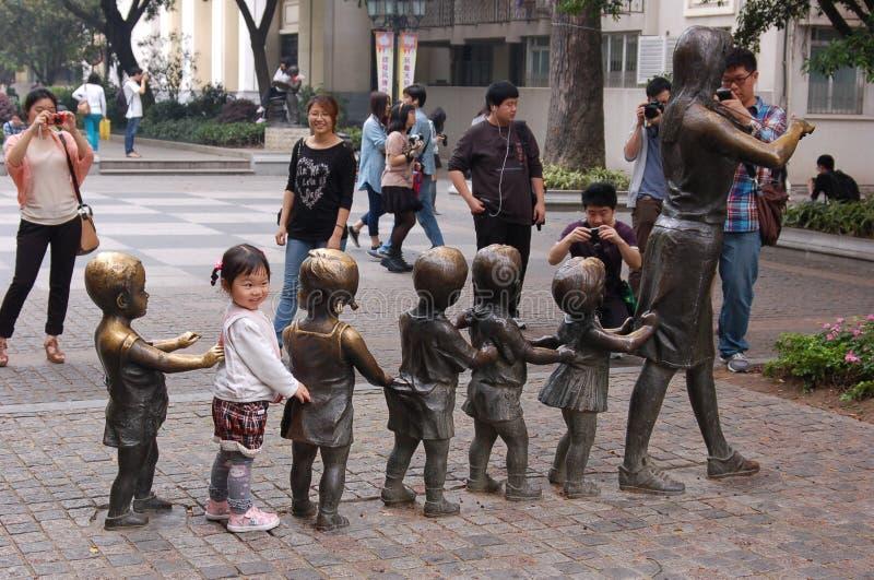 在瓷的一个儿童制度 库存照片