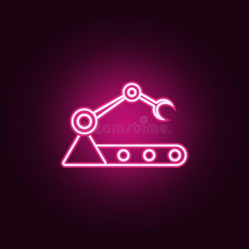 在生产霓虹象的机器人 网集合的元素 r 皇族释放例证