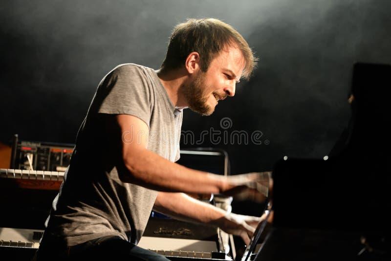 在生波探侧器节日的尼尔斯Frahm (德国音乐家、作曲家和钢琴演奏家)表现 库存图片