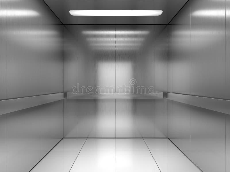 在电梯里面 向量例证