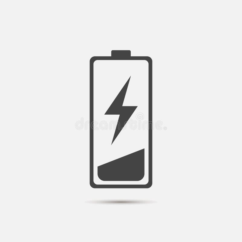 在电池充电传染媒介象外面 低的电池 被编组的层数 库存例证