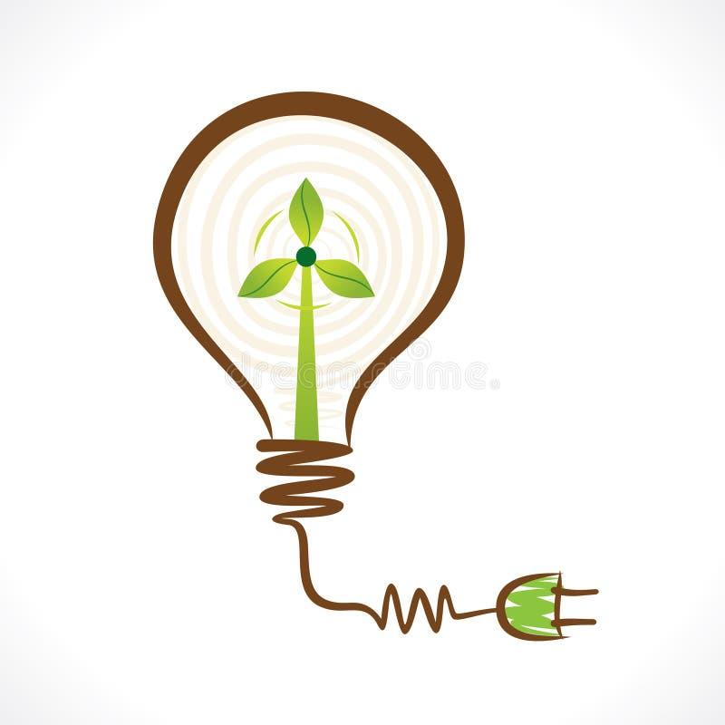 在电灯泡的创造性的可再造能源概念绕环投球法 库存例证