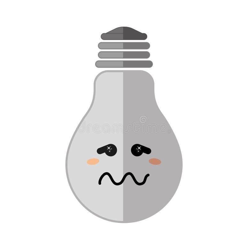 在电灯泡象的消极感觉 想法的设计 向量例证