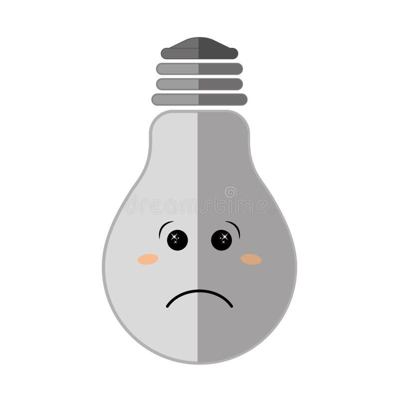 在电灯泡象的消极感觉 想法的设计 皇族释放例证