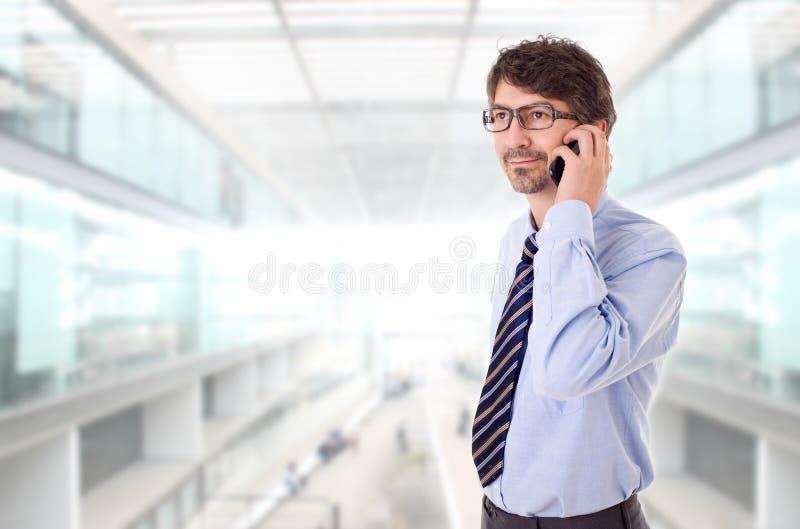 在电话上 免版税图库摄影