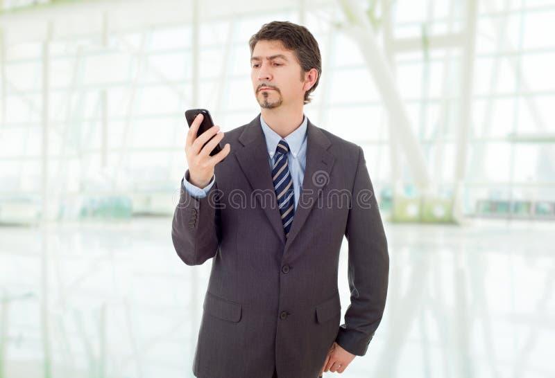 在电话上 图库摄影