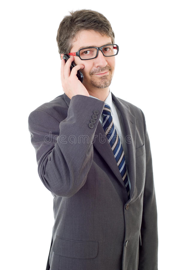 在电话上 免版税库存照片