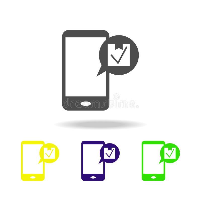 在电话的消息关于物品多彩多姿的象交付  标志和标志汇集象网站的,网络设计, 库存例证