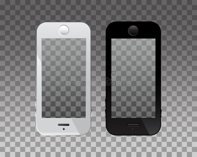 在电话的空的屏幕大模型的 透明度背景 向量例证