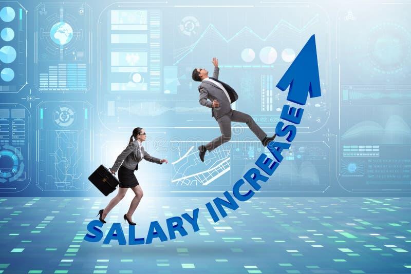 在男人和妇女之间的不齐平的薪水概念 免版税库存照片