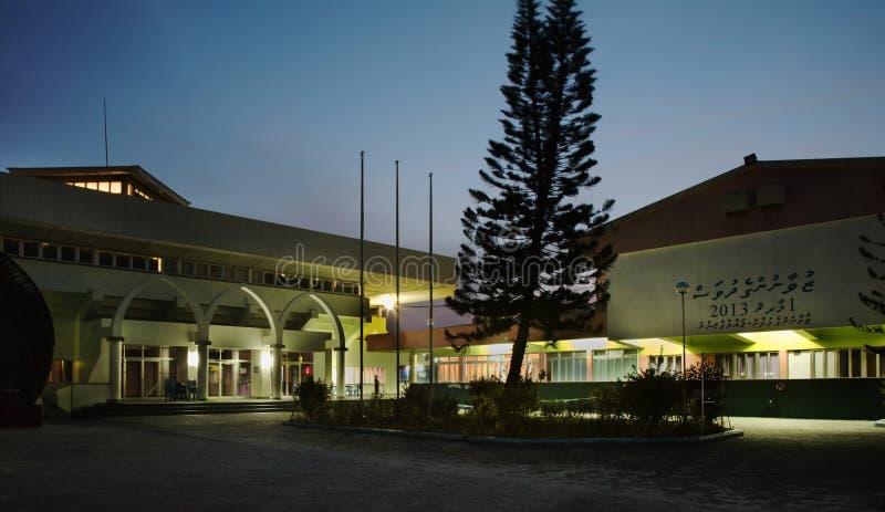 在男性的体育复杂社会中心 马尔代夫共和国 库存照片