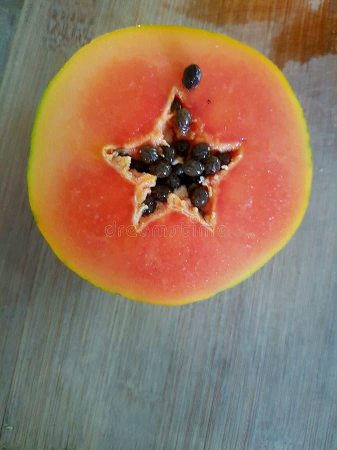 在番木瓜的星 库存照片