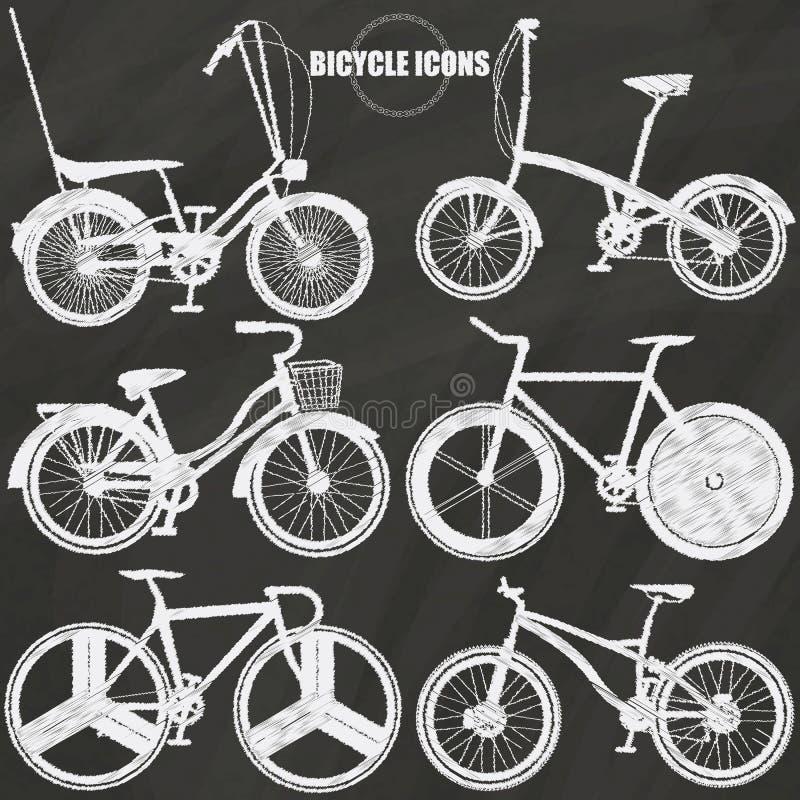在白垩的自行车象 向量例证