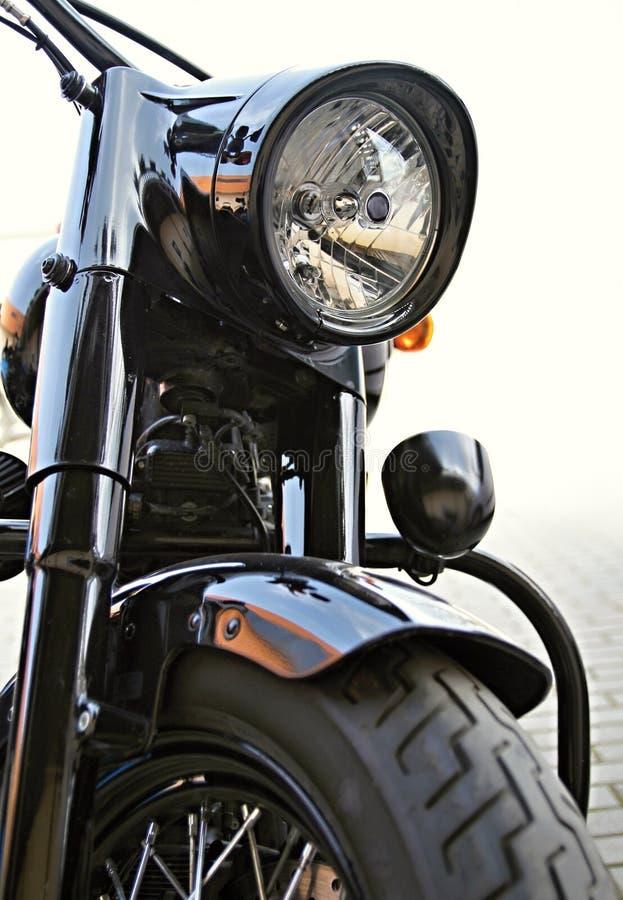 在白天停放的摩托车 库存照片