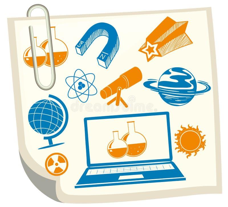 在白皮书的科学标志 向量例证