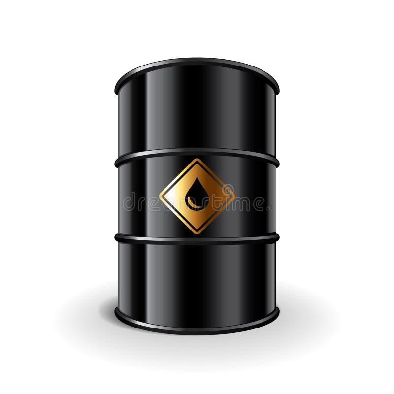 在白色传染媒介的油桶 皇族释放例证