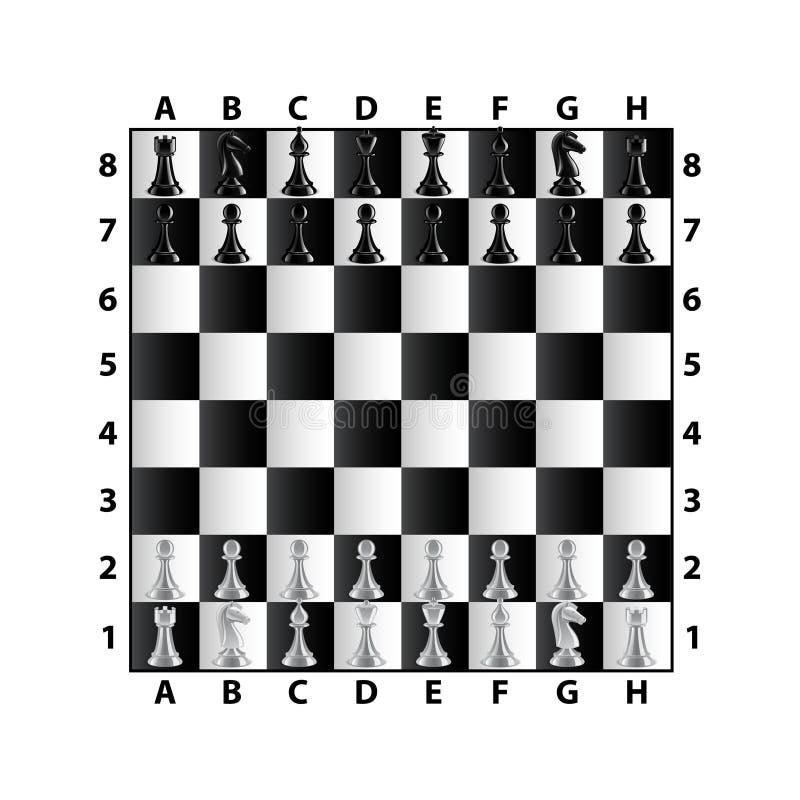 在白色传染媒介隔绝的棋盘顶视图 向量例证