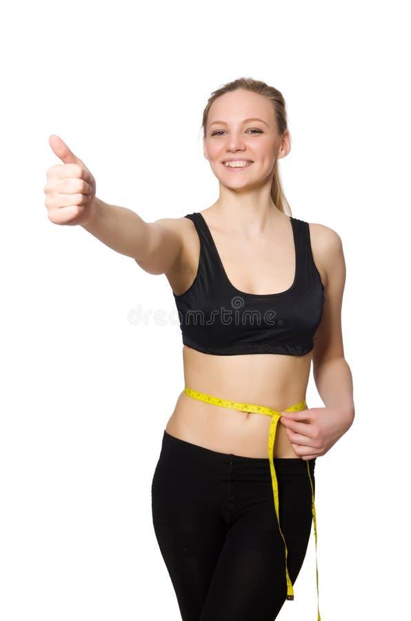 Download 在白色体育概念的妇女隔绝的 库存照片. 图片 包括有 性感, 女孩, 体操, 快乐, 饮食, 健身, 形状 - 72366168