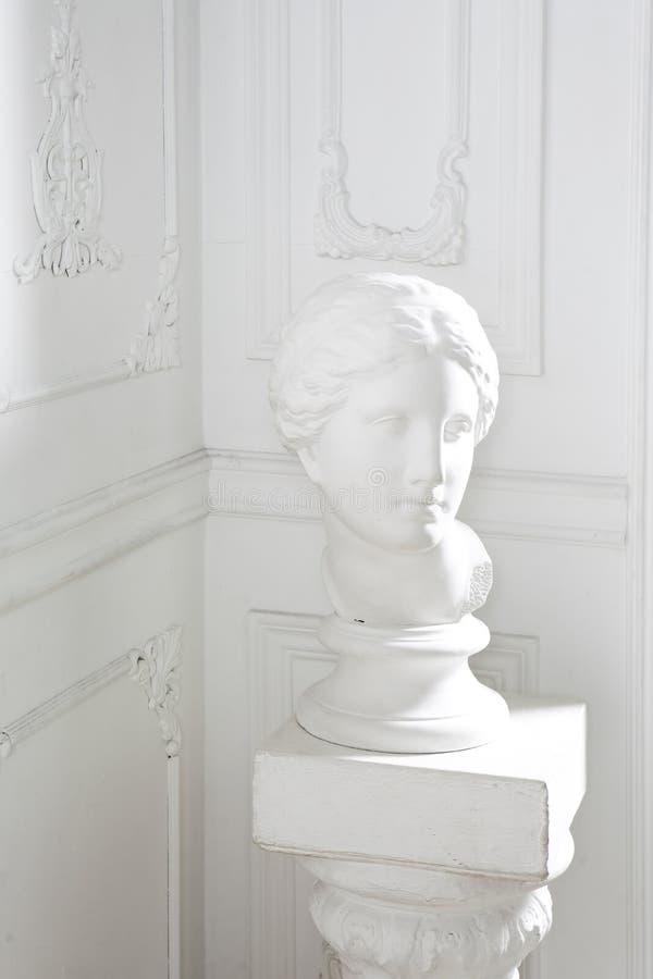 在白色内部的顶头静物画 免版税图库摄影
