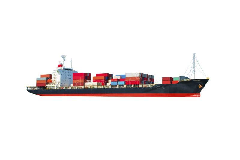在白色后面地面的船 免版税库存图片