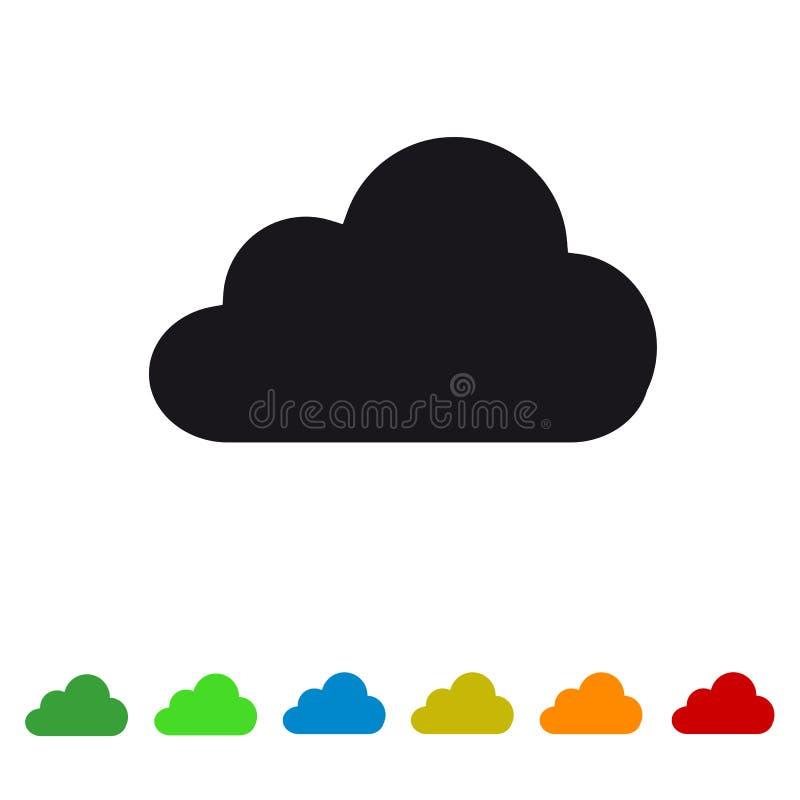在白色和网站的-五颜六色的传染媒介例证云彩平的象-隔绝的阿普斯 皇族释放例证