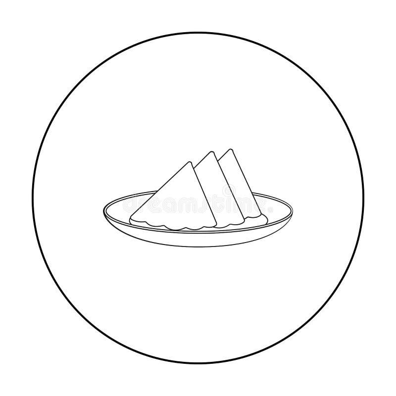 在白色在概述样式隔绝的板材象的被折叠的餐巾 事件服务标志股票传染媒介 皇族释放例证