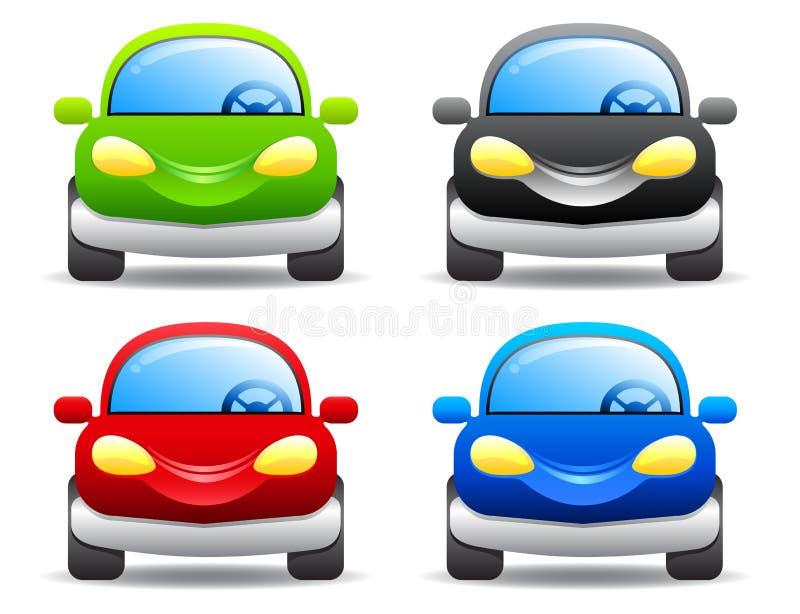 在白色查出的向量汽车 向量例证