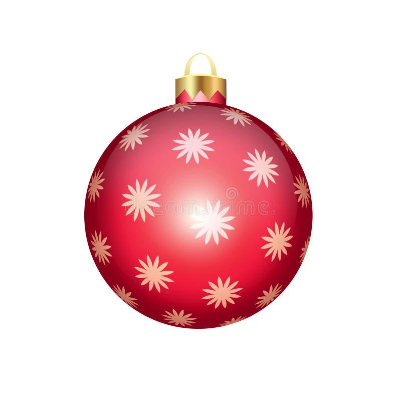 在白色查出的圣诞节球 向量例证