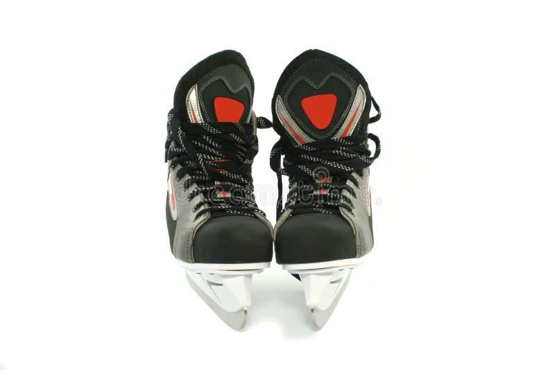 在白色查出的新的冰鞋 免版税库存图片