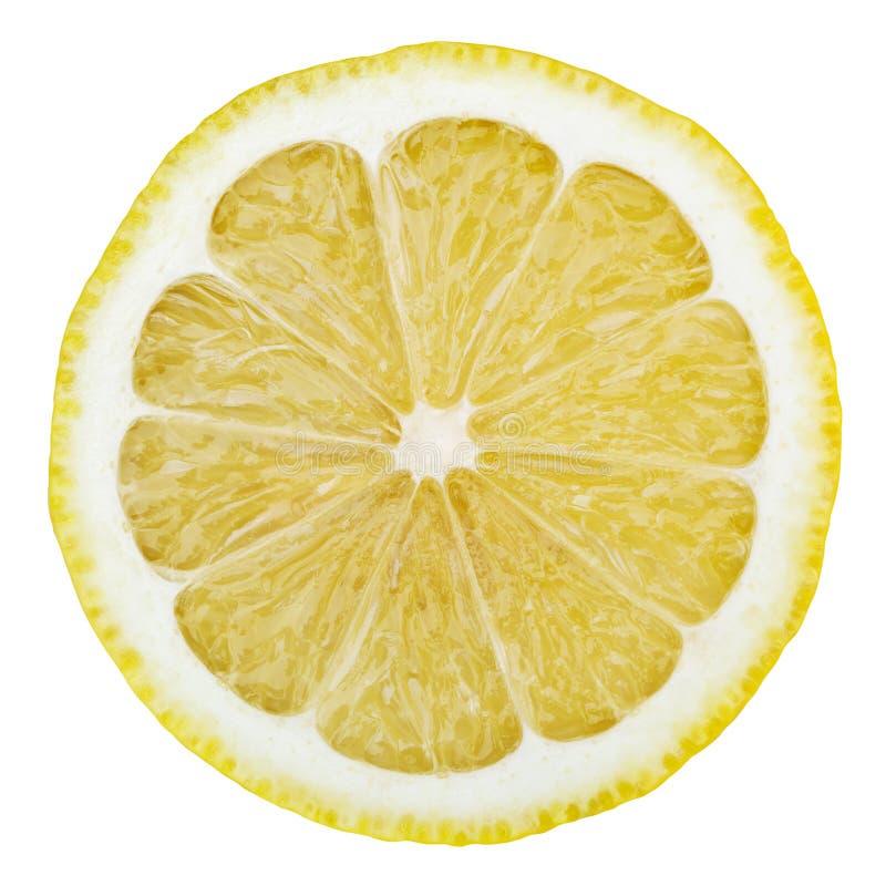 在白色查出的柠檬 免版税库存照片