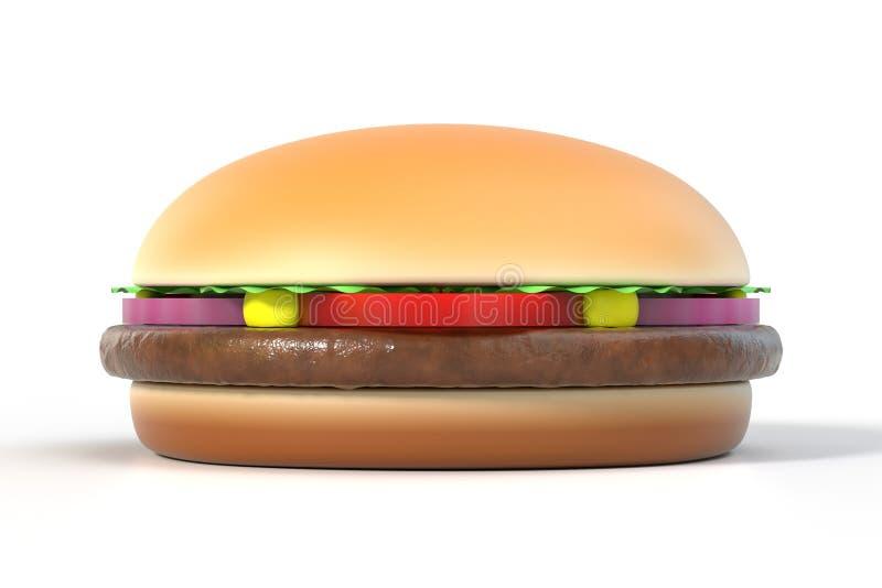 在白色查出的汉堡包 向量例证