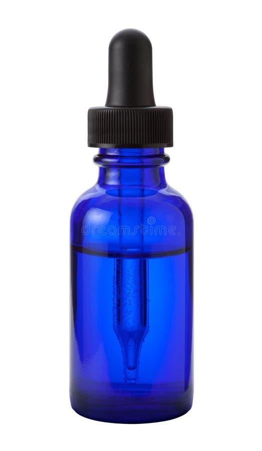 在白色查出的滴管瓶 免版税库存图片