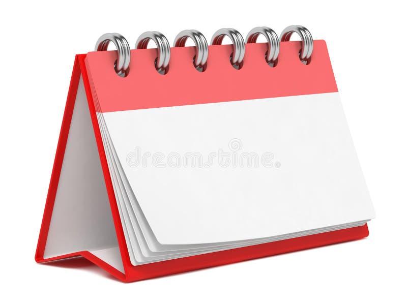 在白色查出的空白桌面日历。 皇族释放例证