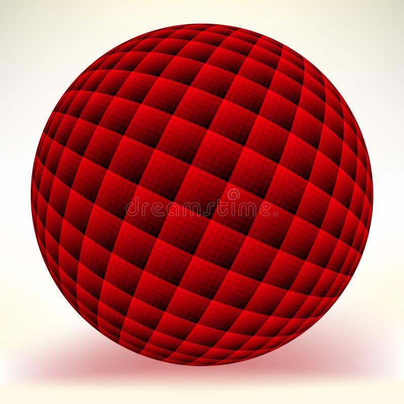 在白色查出的红色光滑的范围。 EPS 8 库存例证