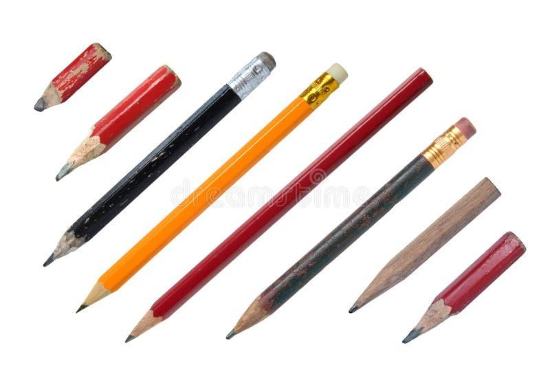 在白色查出的铅笔 免版税库存图片
