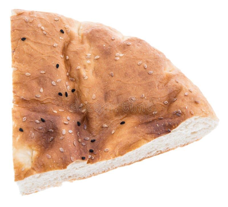 在白色查出的Pita面包 免版税库存图片